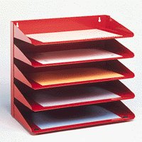 Avery Letter Rack 5Tier Red 605