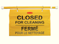 Newell Site Safty Sign Closed Clning Ylw