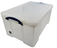 Really Useful 64Litre Office Box Clear