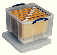 Really Useful 42Litre Box and Lid Clear