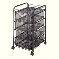 Safco Onyx Mesh Mobile Cart Blk 5214Bl