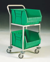 FD 2 Bin Storage Trolley Green 321291