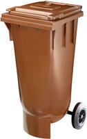 FD 120Litre Brown Wheelie Bin 378470