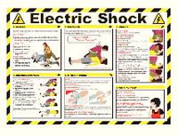 Health/Safety Poster ElectShock 420x590