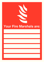 Your Fire Marshals A4 PVC FR09850R