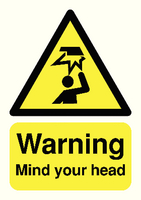 Mind Your Head A5 Warning S/A