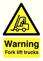 Warning Fork Lift Trucks A5 S/A HA23851S