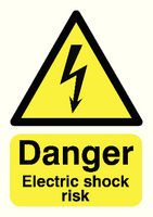 Danger Electric Shock Risk A5 S/A