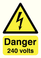 Danger 240 Volts A5 S/A HA07951S