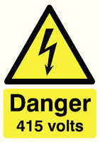 Danger 415 Volts A5 S/A HA08151S