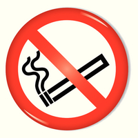 Safety Sign No Smoking Symbol 60mm RDS6