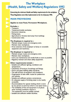 Workplace Regulations Poster WC95