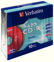 Verbatim CD-R 80mins 52X Colour Pk10