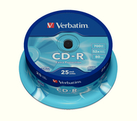 Verbatim CD-R DataLife 52X Spind25 43432