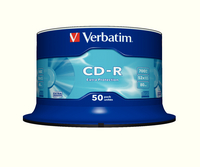 Verbatim CD-R 80mins 52X Spindle Pk50