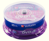Verbatim DVDplusR 16X 4.7GB Spindle25