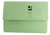 Document Wallet Foolscap Green 220g