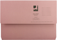 Document Wallet Foolscap Pink 220g
