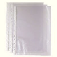 Punched Pocket A4 Clr 270486 Pk100