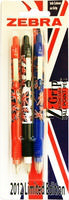 Zebra Zgrip Union Jack Bp Pk3 Ast 02231